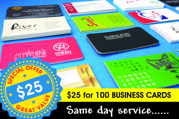 Business Card Deal $25 for 250
